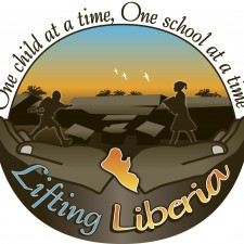 Lifting Liberia Logo with tag
